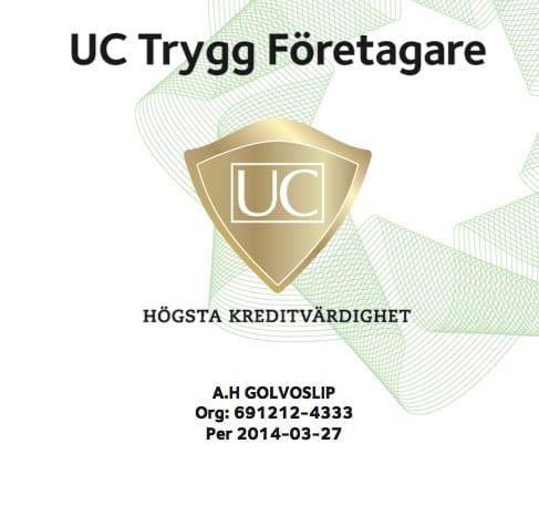 Logotyp för A.H Golvoslip