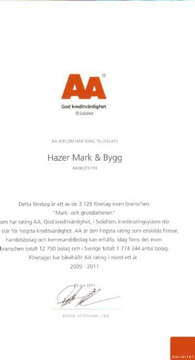 """Referensjobb """"Soliditet"""" utfört av Hazer Mark, Bygg & Entrepenad AB"""