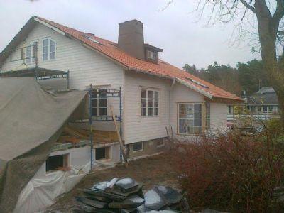 """Referensjobb """"Utbyggnad, renovering samt markarbeten/dränering Askim"""" utfört av Aleco Bygg & Entreprenad AB"""