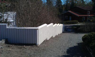 """Referensjobb """"staket"""" utfört av Montan`s byggtjänst"""