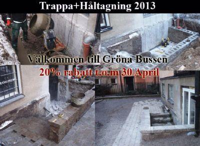 """Referensjobb """"Bygga trappa+ håltagning """" utfört av Gröna Bussen AB"""